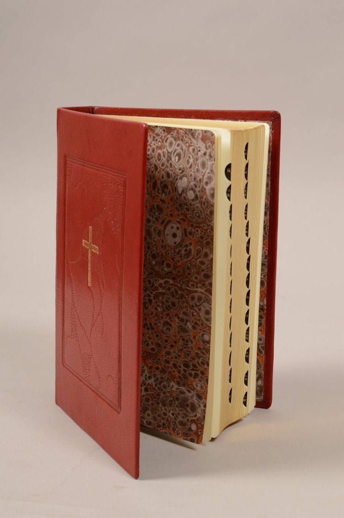 knygrišystė, biblija, marmurinis popierius, įrišimas, rankų darbas,